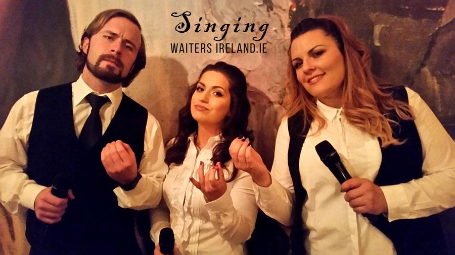 Singing Waiters for hire with www.singingwaitersireland.ie